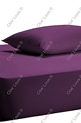 "Extra Deep Fitted Sheet 16"" , 40cm Single Double King Super King Size Bed Sheets"