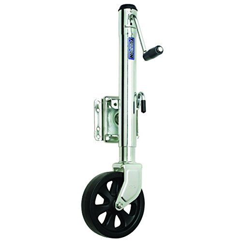 Fulton XP15 0101 Steel Swing-Away Bolt-On Jack with 10 Travel and 8 Poly Wheel - 1500 lb. Weight Capacity by Fulton