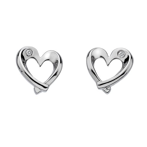 Hot Diamonds Entwine Heart Earrings