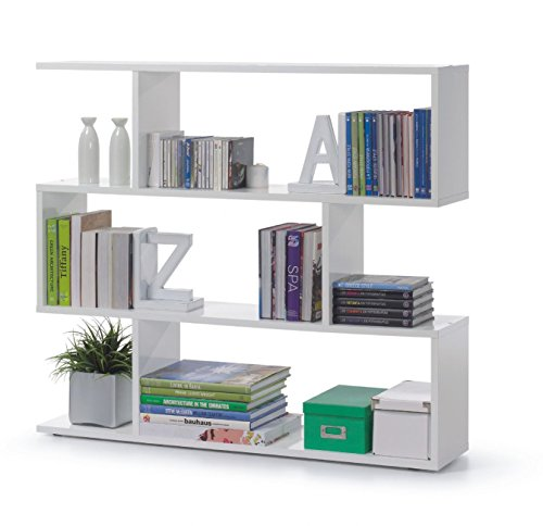 Deals For Zorba Short White Gloss Bookcase Cheap Bookcases Online
