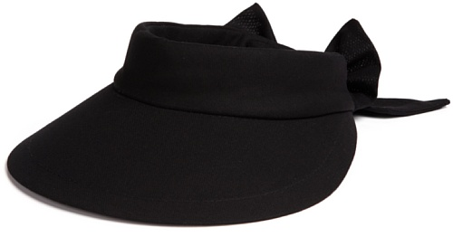 scala-womens-deluxe-big-brim-cotton-visor-with-bow-black-one-size