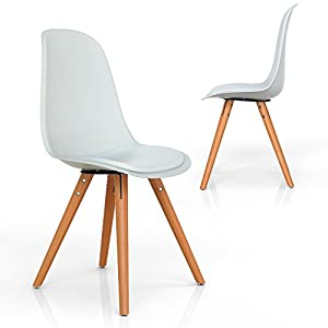 vimes design stuhl esszimmerstuhl wohnzimmerstuhl retro m bel grau oder wei wei. Black Bedroom Furniture Sets. Home Design Ideas