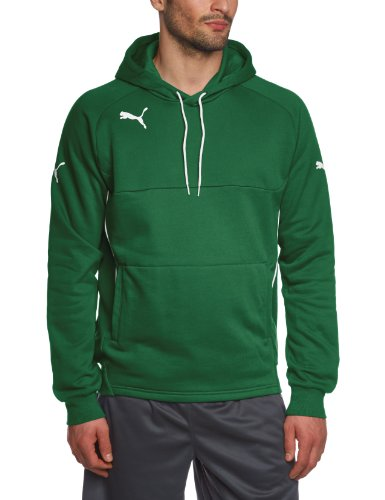PUMA 653979 - Felpa Uomo, Verde (Power Green-white), XL
