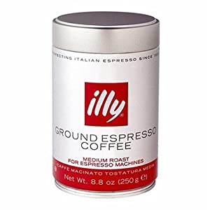 illy Medium Roast Ground Coffee for Espresso Machines from illy