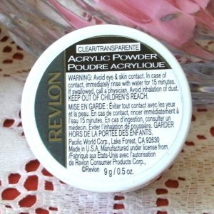 REVLON Acrylic Powder (clear/transparent) for Acrylic Nails .5oz