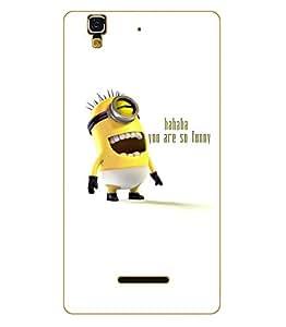 Designer Cute Cartoon Disney Hard Back Case for Micromax Yu Yureka D051