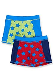 2 Pack Star Print Swim Shorts