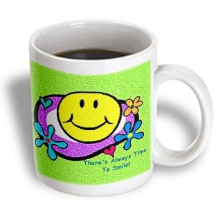 3Drose Smiley Face Mug, 11-Ounce