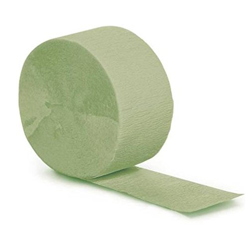 "Mylife (Tm) Sage Green - Crepe Paper Roll Streamer ""Decoration And Craft Supply"" 81 Feet / 24.7 Meters)"