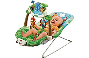 [HSB] Fisher-Price Rainforest Deluxe Baby Bouncer with Pack of 10 Safety Door Stoppers from Fisher-Price