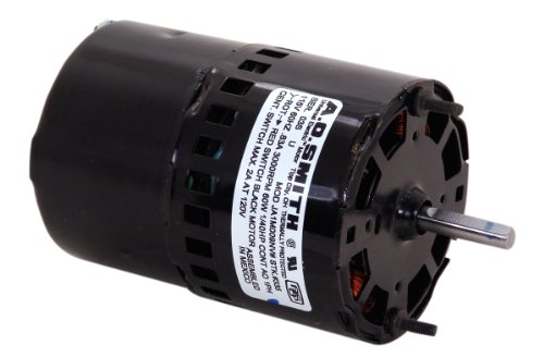 A.O. Smith 335 3.3-Inch 1/40 Hp, 3000 Rpm, 0.83 Amps, Oao Enclosure, Ccwse Rotation, 5/16-Inch By 1-1/2-Inch Shaft Diameter Draft Inducer Motor