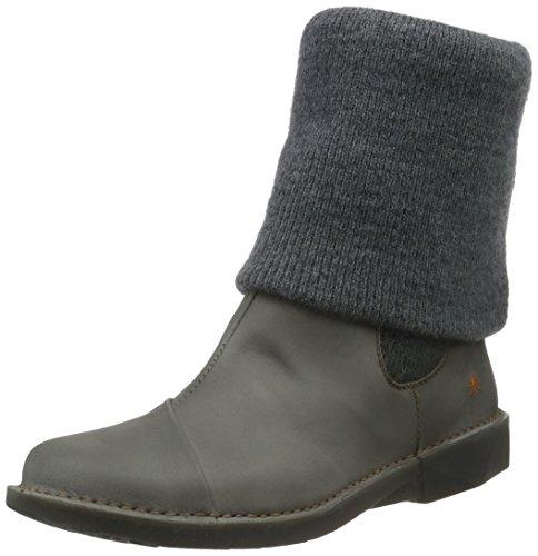 artBERGEN - Stivali a metà polpaccio con imbottitura leggera Donna , Grigio (Grigio (grigio)), 37