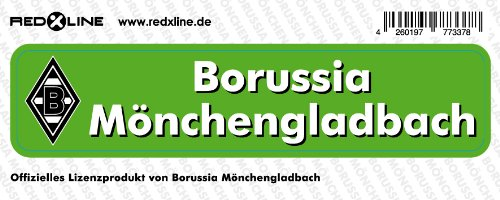 Aufkleber Sticker Borussia M'gladbach Schrift klein