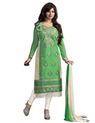 Surat Tex Green Color Digital Print Cotton Semi-Stitched Salwar Suit-D367Dl3Ru