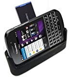 TECHGEAR� Desktop Charging Stand Cradle & Data Transfer Sync Dock for Blackberry Q10, with Spare Battery Charging Slot + USB Data Transfer Cable