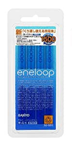 SANYO NEW eneloop 充電式ニッケル水素電池(単4形8個パック) [HR-4UTGA-8BP]