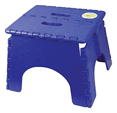 B&R Plastics 101-6SB Sapphire Blue EZ Foldz Step Stool