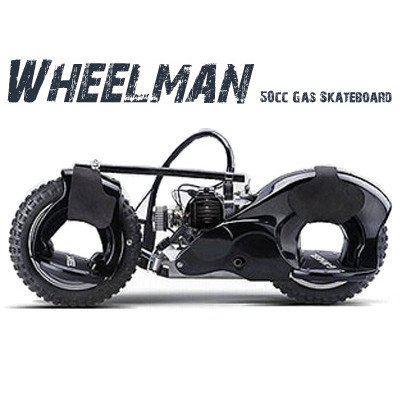 Wheelman 50cc Gas Skateboard in Black