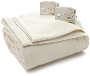 Biddeford Blankets, LLC Twin Comfort Knit Heated Blanket, Natural