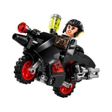Lego TMNT Karai minifigure with motorcycle (assembled)