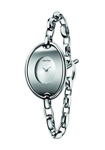 Calvin Klein K3H2M121 Silver Steel Bracelet & Case Mineral Women's Watch