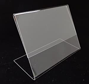 6- SourceOne Landscape 11 X 8 1/2 Sign Holder Brochure Holder Clear Acrylic