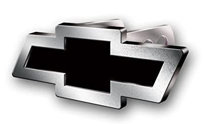 Chevy Bowtie Style Brushed Aluminum Hitch Plug