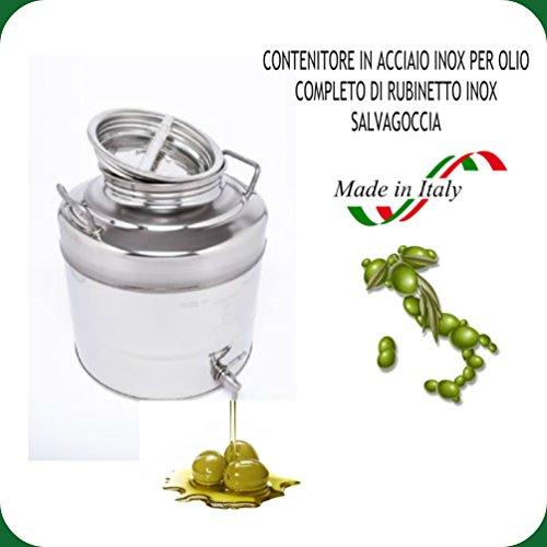 CONTENITORE INOX LT. 30 OMAGGIO RUBINETTO INOX