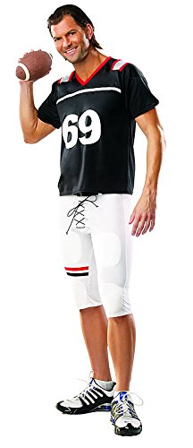 [Coquette Men's Football Player, Black/White, Large/X-Large] (Touchdown Adult Costumes)