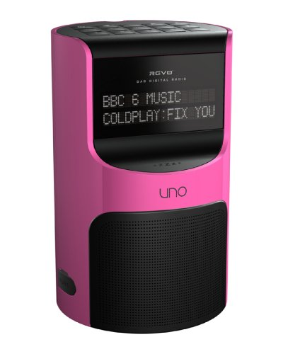 Revo Uno DAB Digital/FM Radio with Alarm (Pink)