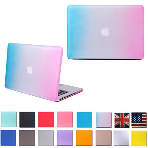 """HDE Matte Hard Shell Clip Snap-on Case for MacBook Pro 15"""" (Non-Retina) - Fits Model A1286 (Rainbow)"""