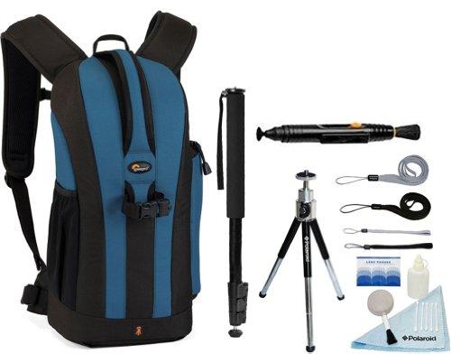 Lowepro Flipside 200 Backpack (Blue) + Accessory Kit for Nikon D3/D3S/D3X/D40/D50/D60/D70S/D80/D90/D700/D300/D300S/D7000/D90/D5100/D5000/D3100/D3000/FM10/F100 Digital SLR Cameras