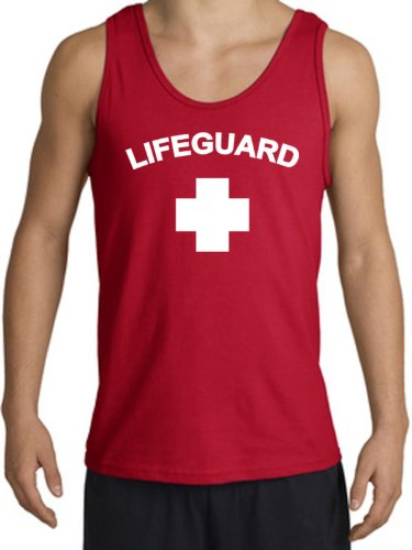 Lifeguard Tank Top for Men - 100% Cotton - S to XXL