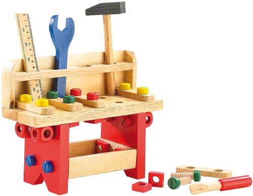 Playtastic-Lustige-Holzwerkbank-fr-kleine-Handwerker-51-teilig