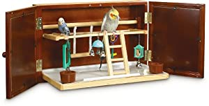 Super Pet Feathered Fun Wall Mount Activity Center, Pet Bird, Keet/Tiel