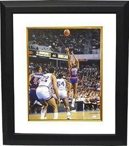 Dennis Rodman signed Detroit Pistons 16x20 Photo Custom Framed- JSA Hologram