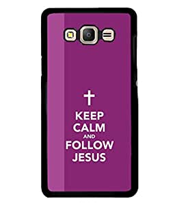 printtech Keep Calm Jesus Back Case Cover for Samsung Galaxy On7 Pro :: Samsung Galaxy On7