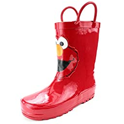 Sesame Street Elmo Kids Rain Boots (7/8 M US Toddler, Elmo Red)