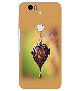PrintDhaba Heart Pendant D-2458 Back Case Cover for HUAWEI NEXUS 6P (Multi-Coloured)