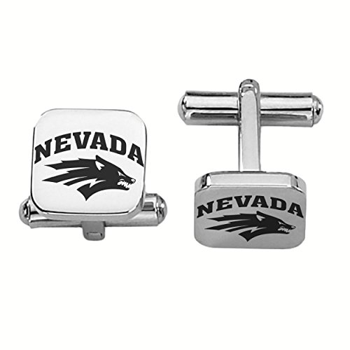 Nevada Reno Wolfpack Stainless Steel Square Cufflinks