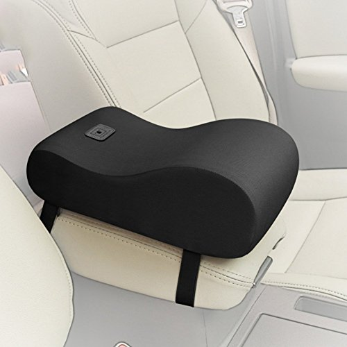 A.B Crew Breathable Soft Memory Foam Car Armrest Center Consoles Cushion All Seasons Universal Auto Seat Cushion (Black) (Civic Center Console compare prices)
