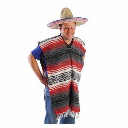 Adult Striped Poncho - No Sombrero