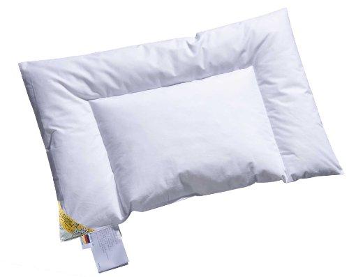 ARO Artländer 4800380 Snoowgoose Baby-Flachkissen, weiße sibirische neue Schneegänsedaunen 100%, waschbar 60°, 40 x 60 cm (feinster Batist)