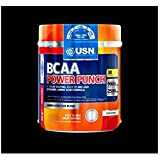 USN BCAA Power Punch Performance and Stamina Drink Powder, Tangerine - 400 g