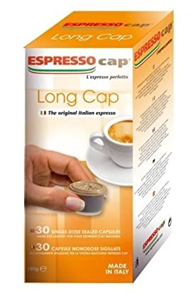 Bennoti the Original Italian Espresso Coffee Long Lasting Rich & Creamy Taste (300 Capsules 10 Boxes, Long Cap)