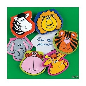 12 Safari Animal Jungle Zoo Notepads With Wiggle Eyes front-960077