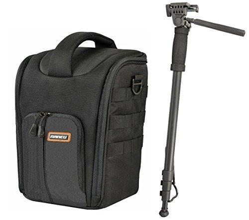 Foto-Kamera-Tasche-Naneu-C-9-SLR-Set-mit-Einbein-Stativ-fr-Sony-Alpha-Canon-EOS-Nikon-Panasonic-Lumic-und-andere