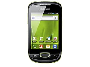 Samsung Galaxy Mini S5570 Smartphone (8,1 cm (3,2 Zoll) Display, Touchscreen, 3 Megapixel kamera, Android OS) lime green