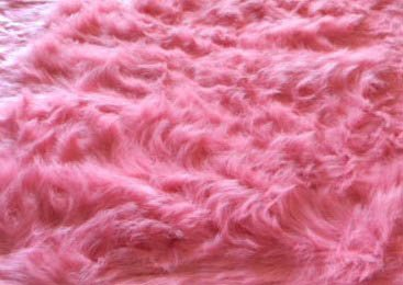 3X5 Rug Fluffy Flokati Solid Pink 3 Inch Thick 3'3