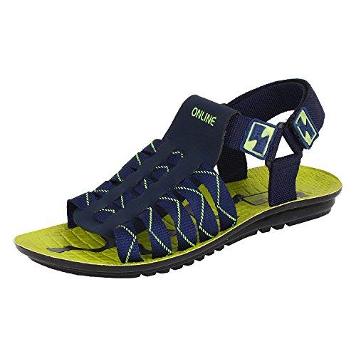 Bersache-Men-Canvas-Blue-Sandal-Floaters